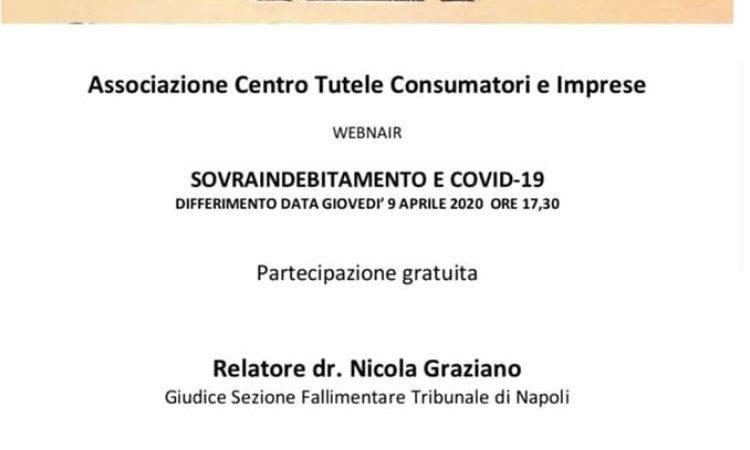 Associazione Centro Tutele Consumatori e Imprese – SOVRAINDEBITAMENTO E COVID 19