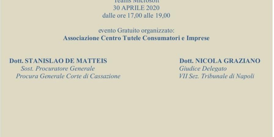 PROCEDURE CONCORSUALI NELLA FASE DI EMERGENZA ECONOMICA – Associazione Centro Tutele Consumatori e Imprese